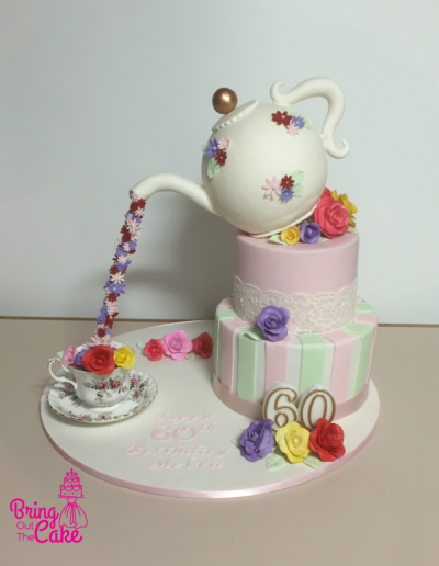 tea pot cake - 60th
