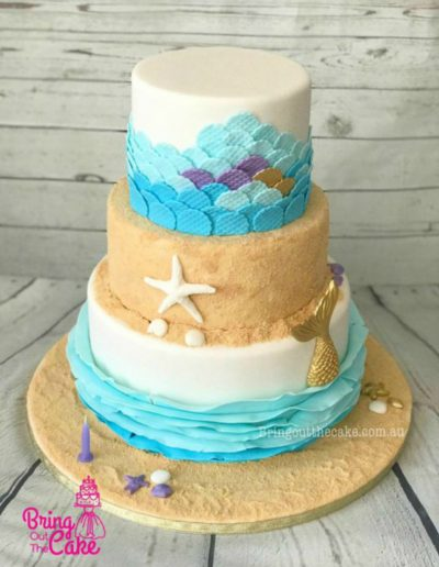 3 tier Mermaid cake