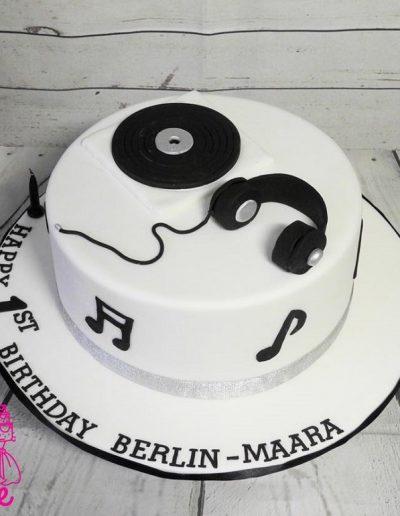 DJ 1st Birthday Cake
