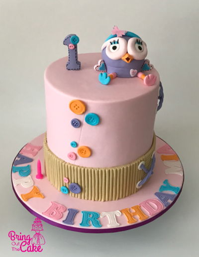 Hootabelle first birthday cake