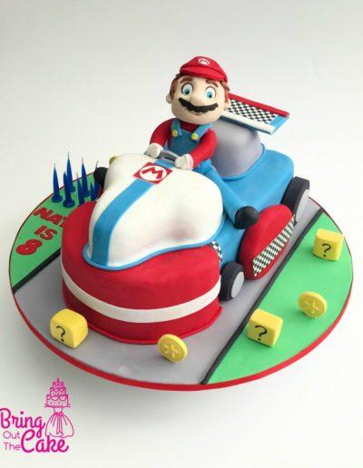 Mario Cart 3D cake