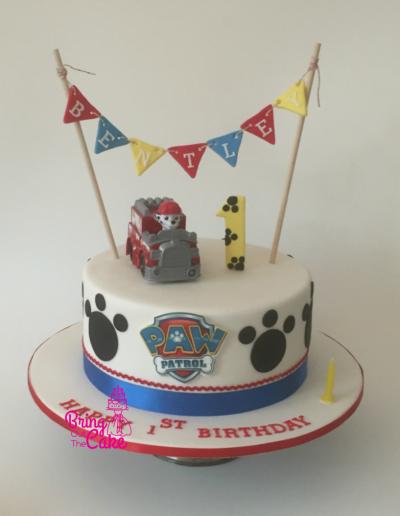 Paw-Patrol-1st-Birthday-Cake