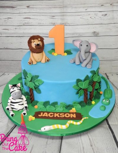 Zoo-Birthday-Cake