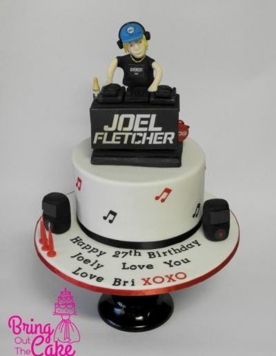 DJ Birthday Cake for Joel Fletcher
