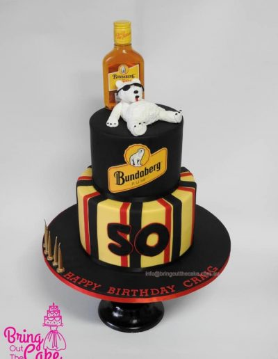 50th Birthday cake - Bundaberg Rum cake