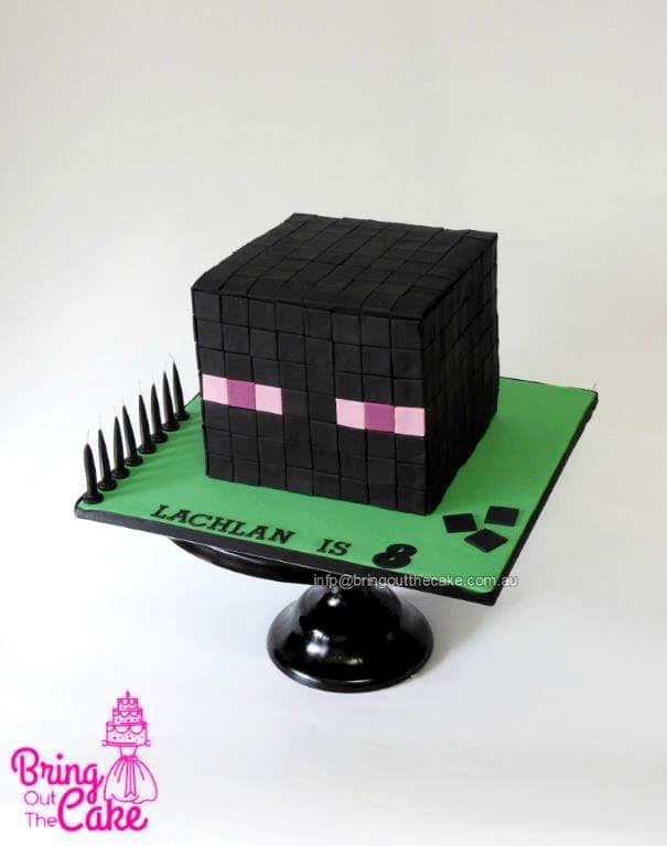 Minecraft Cake Enderman Head Bring Out The Cake
