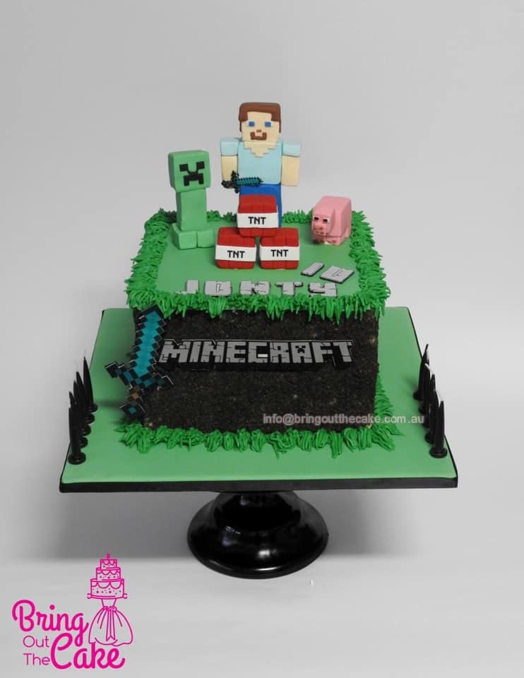 Terrific Minecraft Cake Bring Out The Cake Funny Birthday Cards Online Eattedamsfinfo