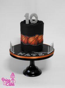 Basketball Fault Line Cake