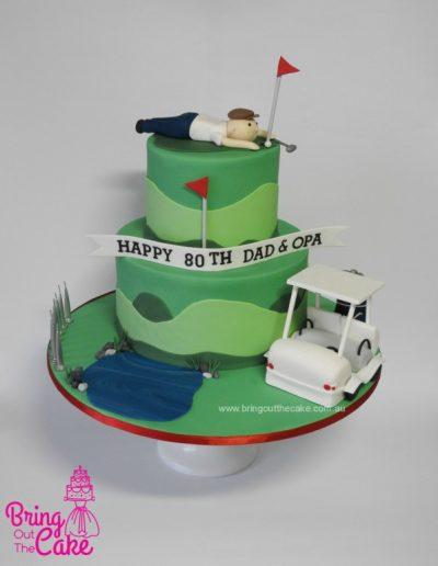 Golf Cake, Cake maker Berwick, cake Decorator Berwick
