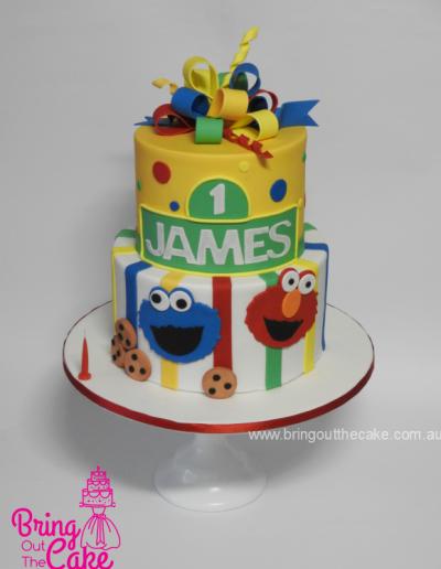 Sesame Street Cake, first birthday cake, cake maker Berwick