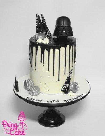 Darth Vader Cake, Start Wars Cake, Drip Cake, Cake maker Berwick