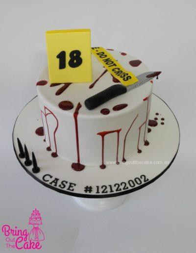 Crime Scene Cake, cake maker Berwick
